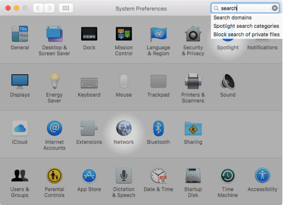 OS X El Capitan System Preferences search Mac screenshot 004