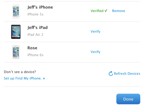 Trusted Device Verified Apple ID