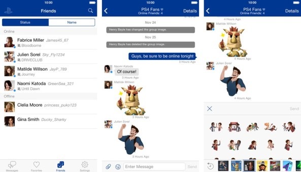 Sony PlayStation Messages 1.0 for iOS iPhone screenshot 002