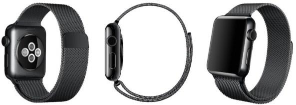 Apple Watch Space Black Milanese Loop image 001