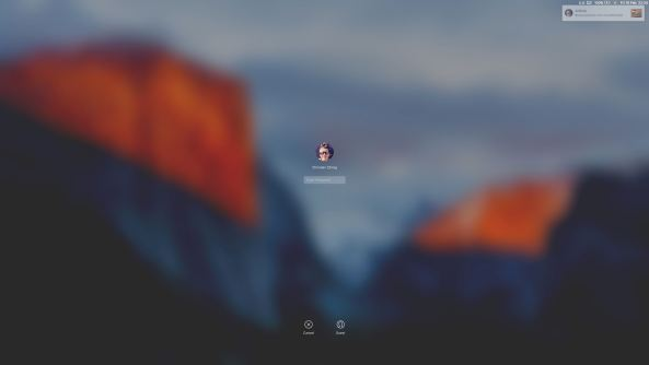OS X El Capitan AirDrop notification Lock screen Mac screenshot 004