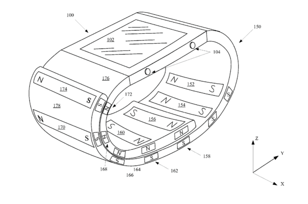 Apple working on magnetic Watch band that doubles as stand