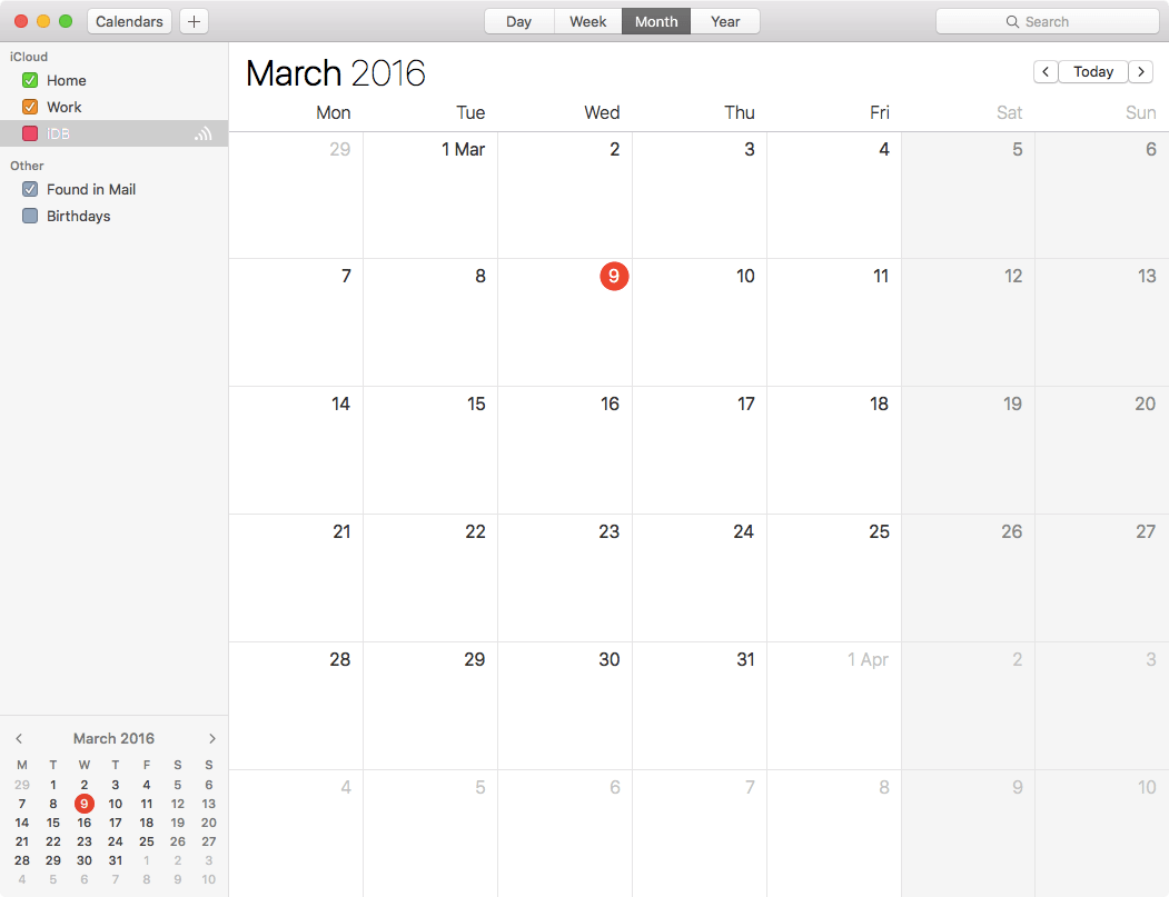 How to show week numbers in Calendar app