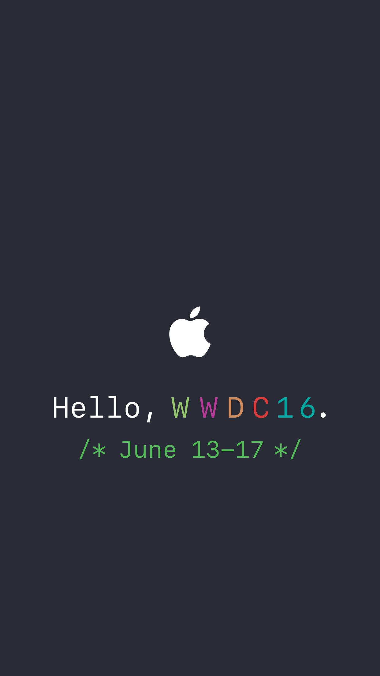 Apple WWDC 2016 wallpapers