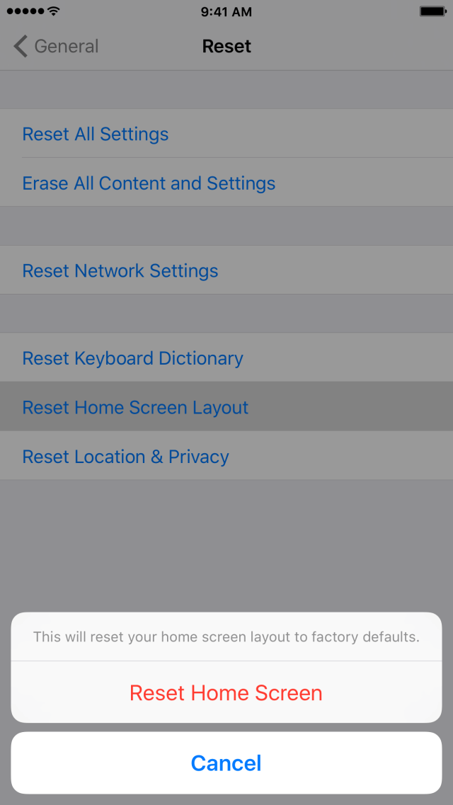 Tip: quickly reset your Home screen icons to the default layout