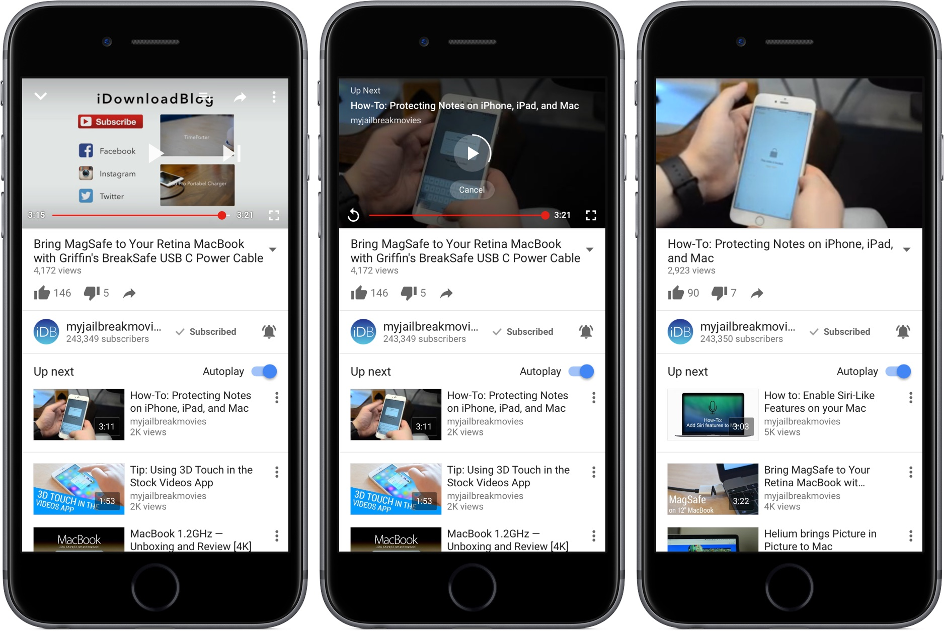 Tip: stop YouTube's annoying video autoplay 'Up Next' feature within iOS app