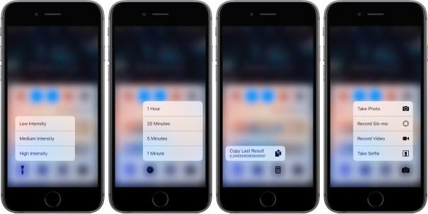 iOS 10 Trung tâm Kiểm soát 3D cảm ứng iPhone chụp màn hình 001