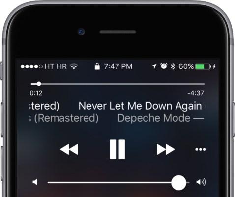 iOS 10 Khóa màn hình Now Playing iPhone chụp màn hình 002
