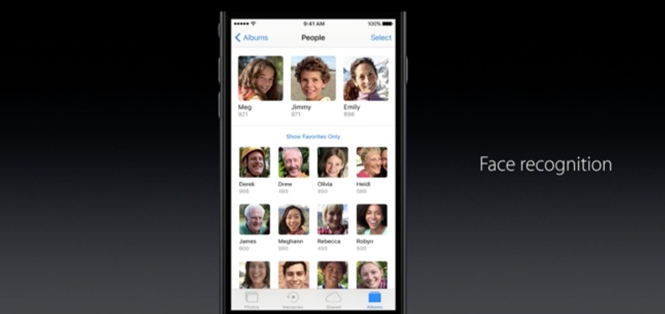 wwdc 2016 photos face recognition