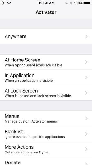 Activator iOS 9.3.3