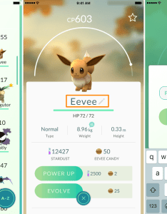 Rename eevee into pyro to get flareon also controlling what your evolves in pokemon go rh idownloadblog