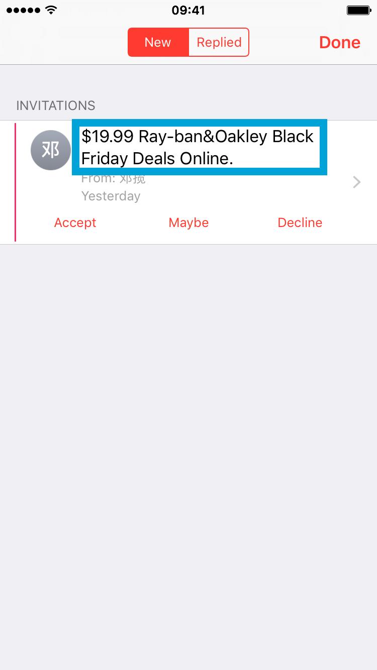 Spam Calendar Invitation On Iphone