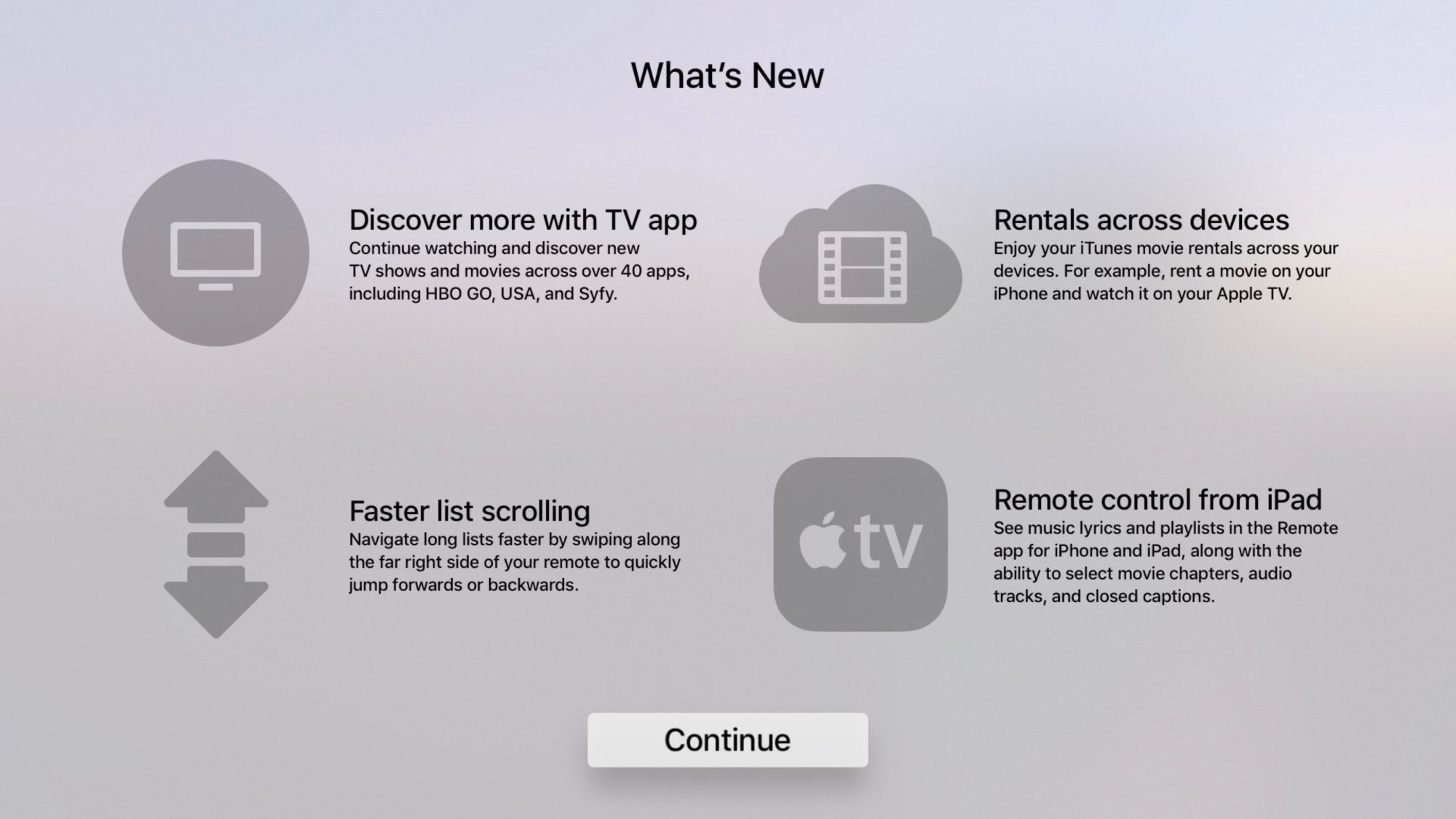 hight resolution of you no longer have to scroll through long lists on your apple tv for minutes on end like an animal courtesy of the latest firmware released yesterday