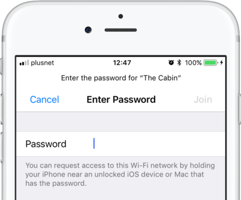 Image result for wifi password ios 11