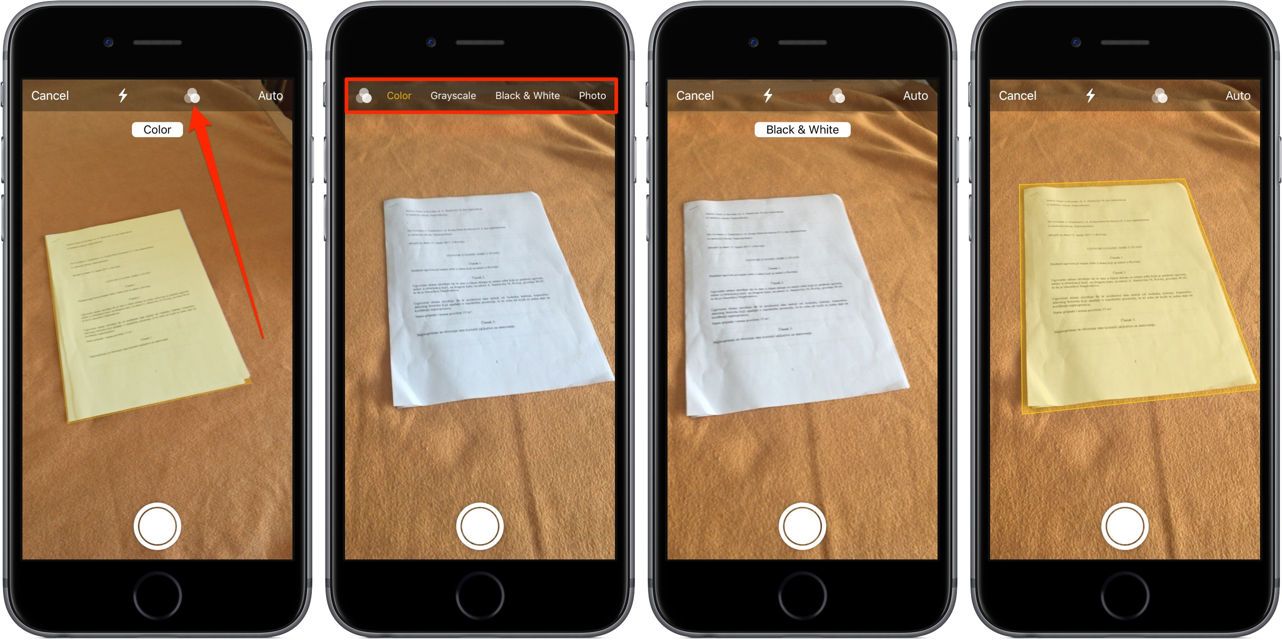 How to scan documents in iOS 11 Notes app