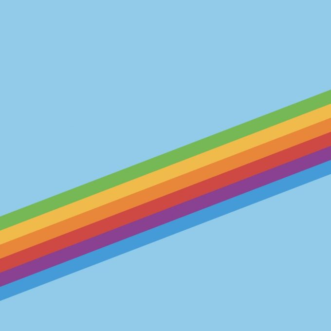 Tapeta z pięciobarwnym paskiem kolorowym (iOS 11 retro)