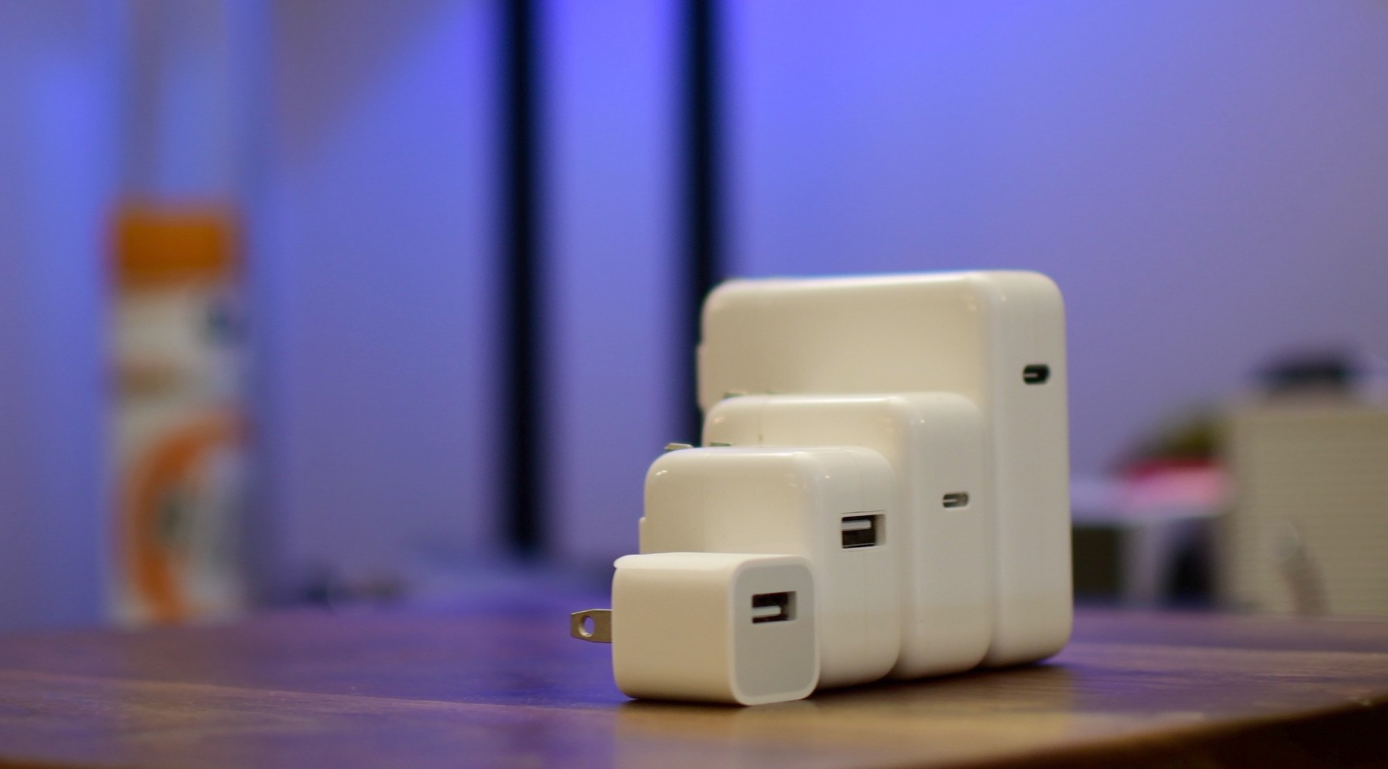 hight resolution of iphone fast charge teaser image showing apple usb power adapters and usb c chargers
