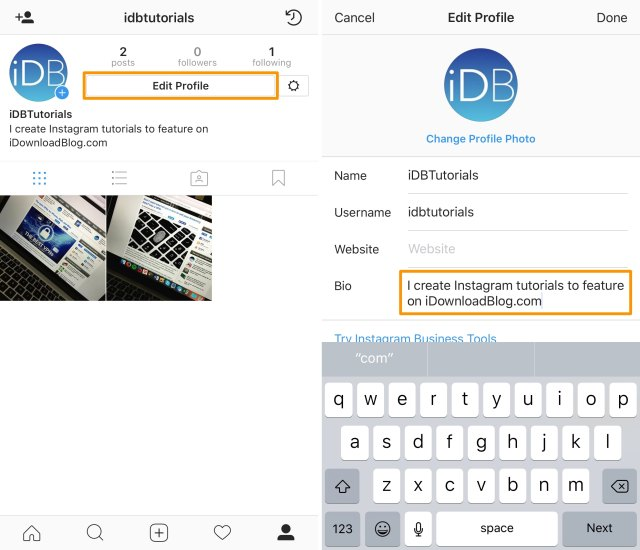 How to center-align your profile bio in Instagram