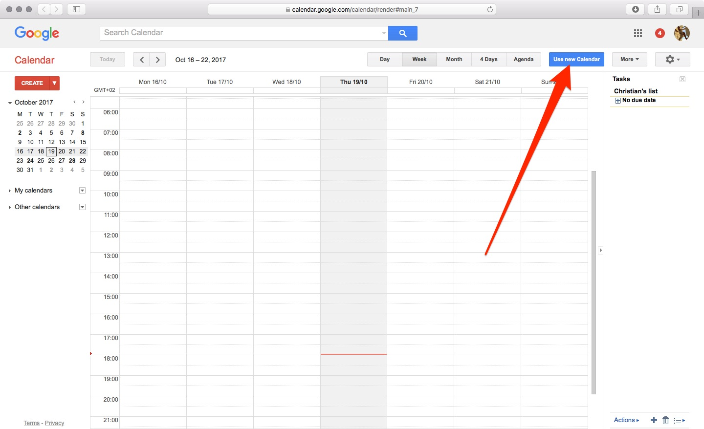 How to enable Material Design for Google Calendar on the web