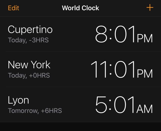 Simple WorldClock adds a World Clock display to your Lock screen