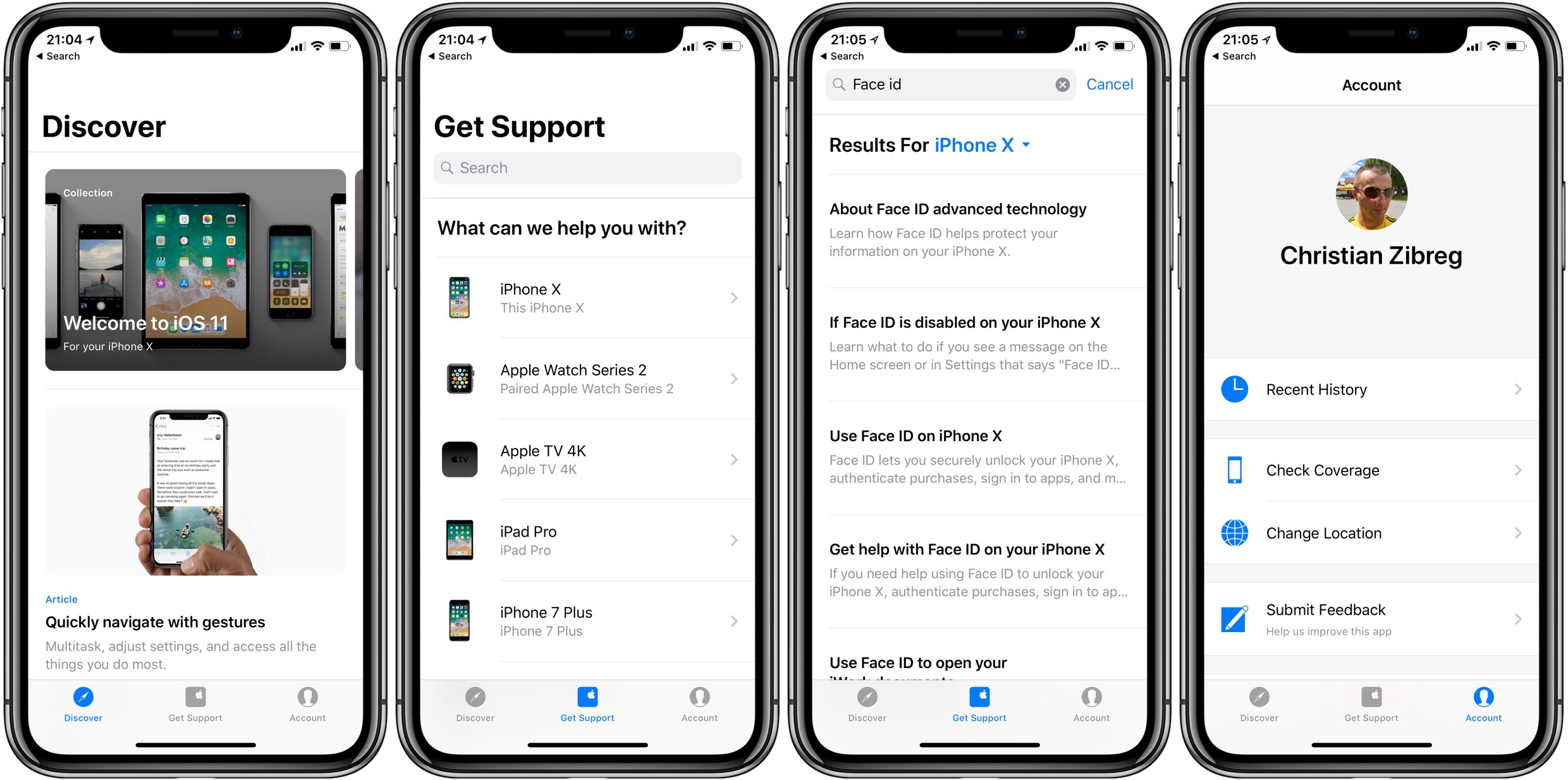 Apple revamps Support app, adds new Discover section