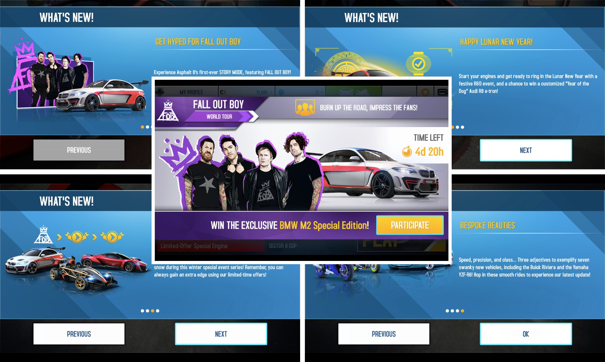 M A N I A Wallpapers Fall Out Boy Asphalt 8 Airborne Brings Story Mode Winter Event Series