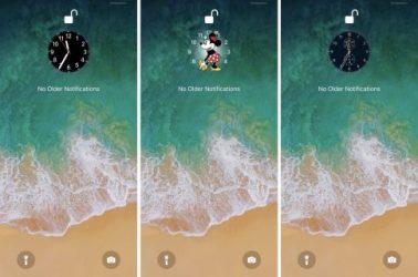 miniTime is a tweak that makes the Lock screen clock smaller