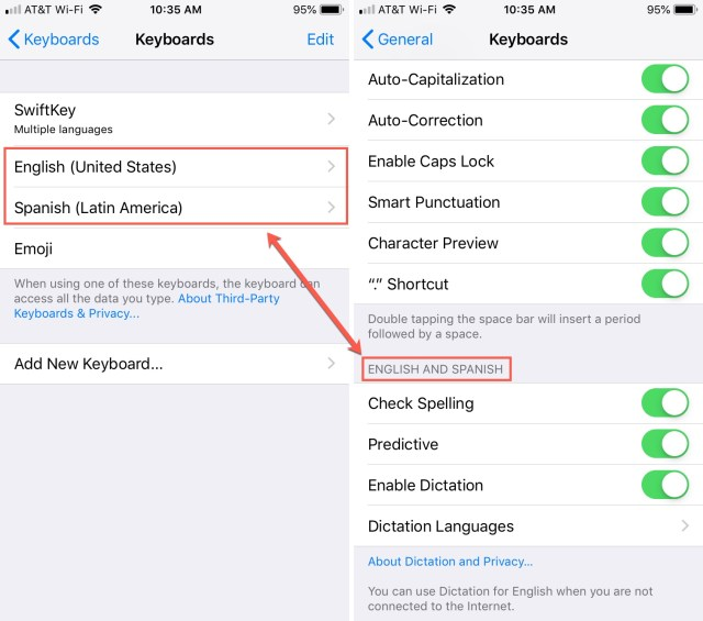 How to use a different spell check language on iPhone, iPad and Mac