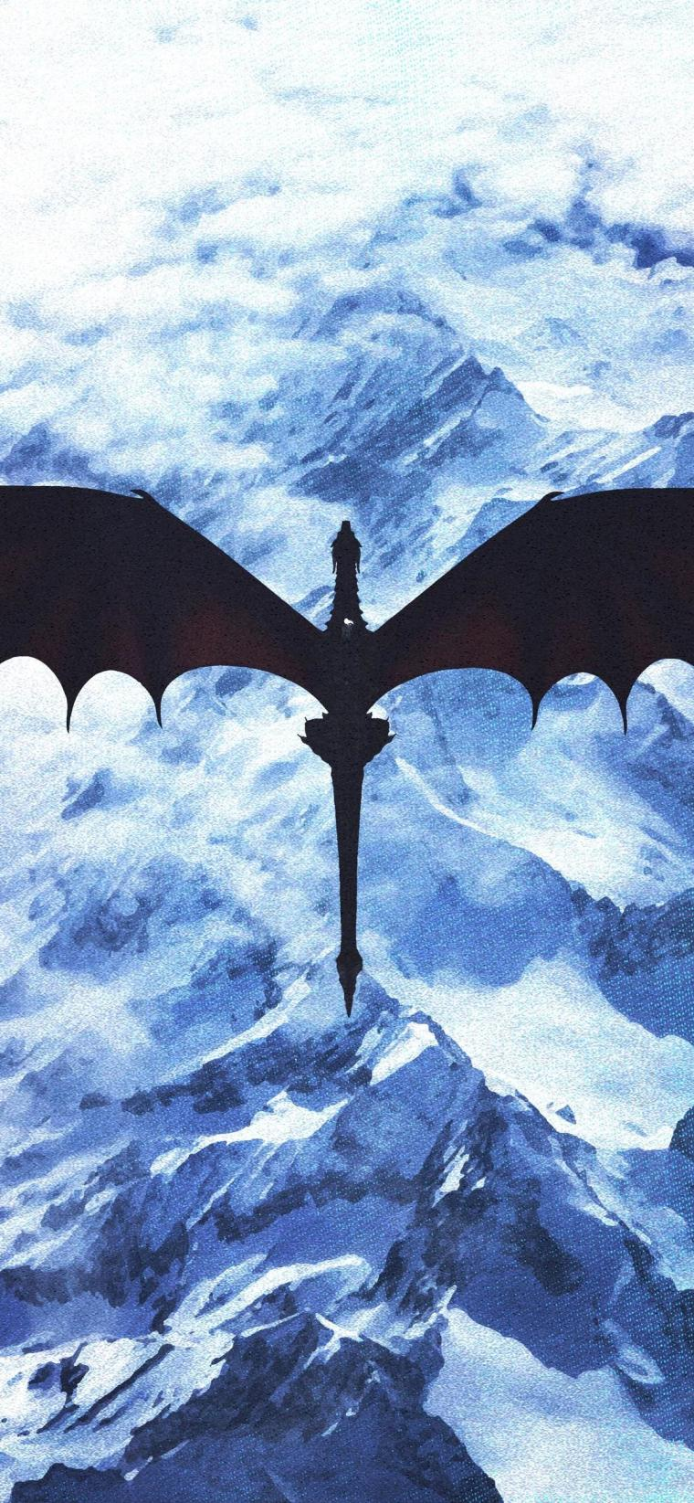 game-of-thrones-dragon-artwork-1125x2436 iPhone game of thrones wallpaper
