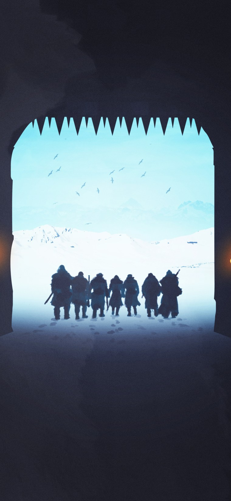 game-of-thrones-night-watch-the-wall iPhone game of thrones wallpaper