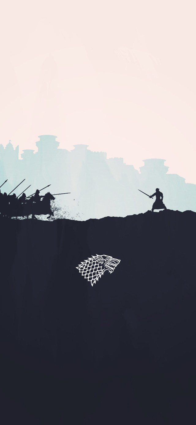 jon-snow-minimalism- iPhone game of thrones wallpaper