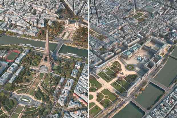 Apple Maps Flyover Paris Two Views