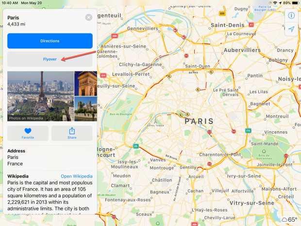 Apple Maps Flyover Paris
