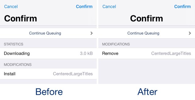 Center-align all application titles in iOS with