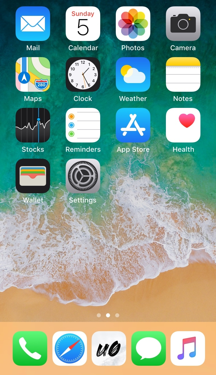 five icon dock lets