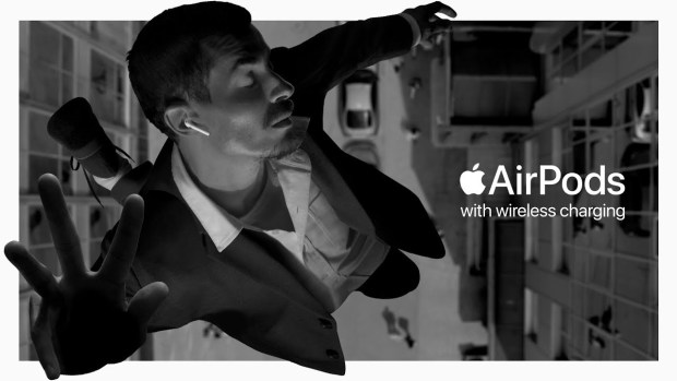 """""""Bounce"""" ad to promote the new AirPods"""