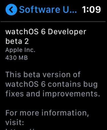 watchOS 6 teasing OTA updates on the Apple Watch