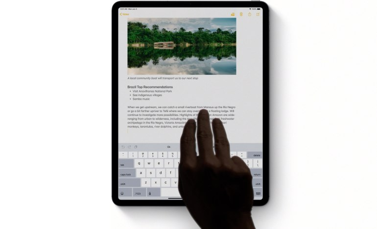 Image result for New gestures for copy, paste, and other actions in ipad