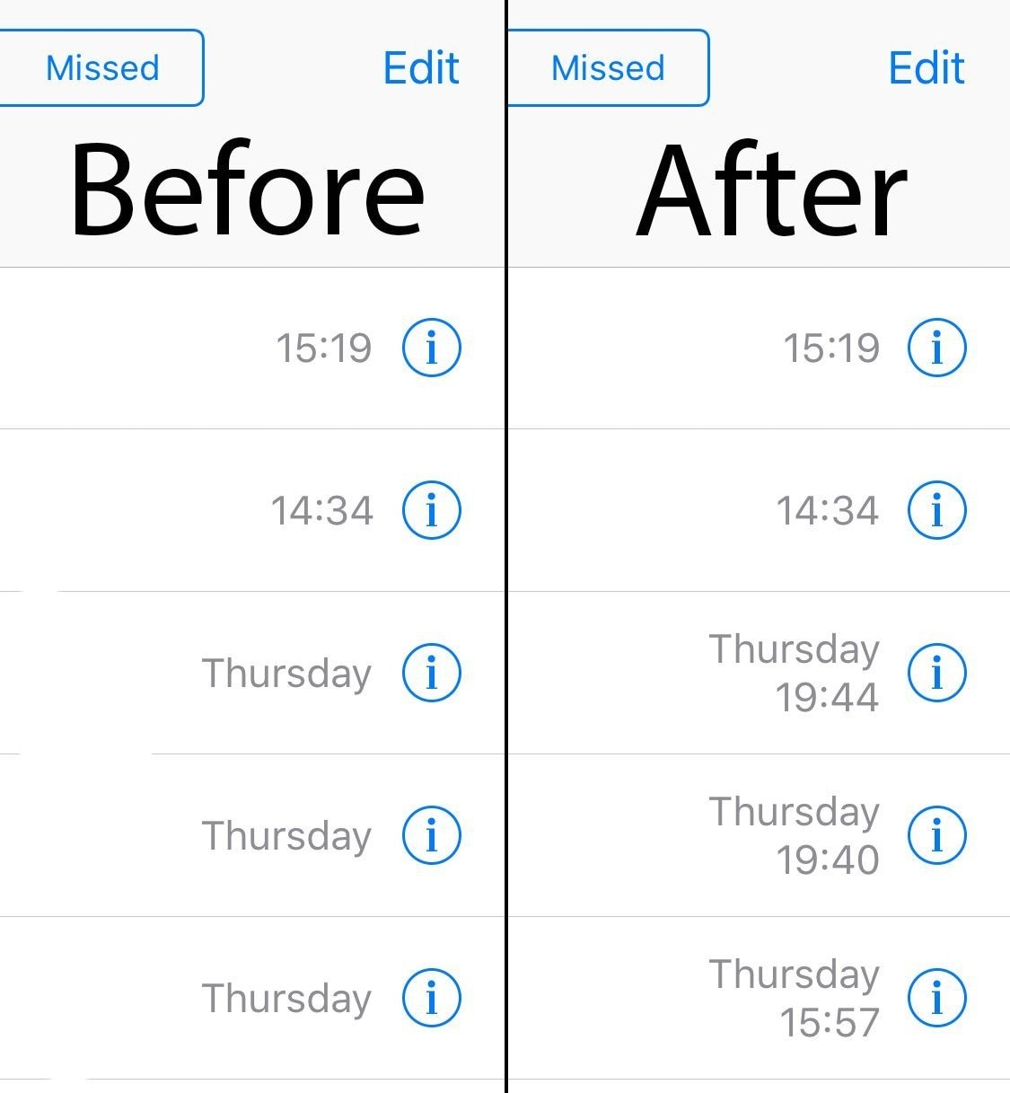 This tweak improves the timestamps in your iPhone's call