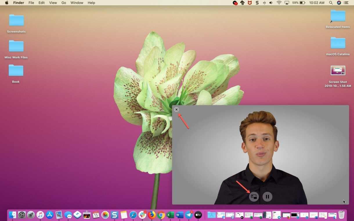 Close picture in picture Safari window - طريقة استخدام ميزة picture-in-picture في متصفح سفاري على أجهزة ماك