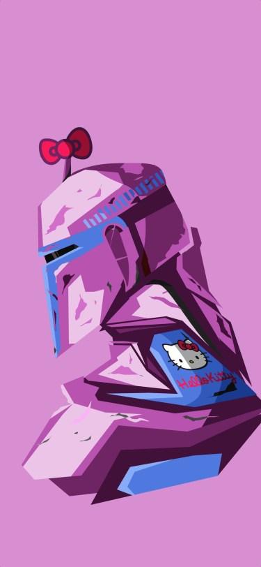 Disney Star Wars Mandalorian iPhone Wallpaper Boss Logic Pink