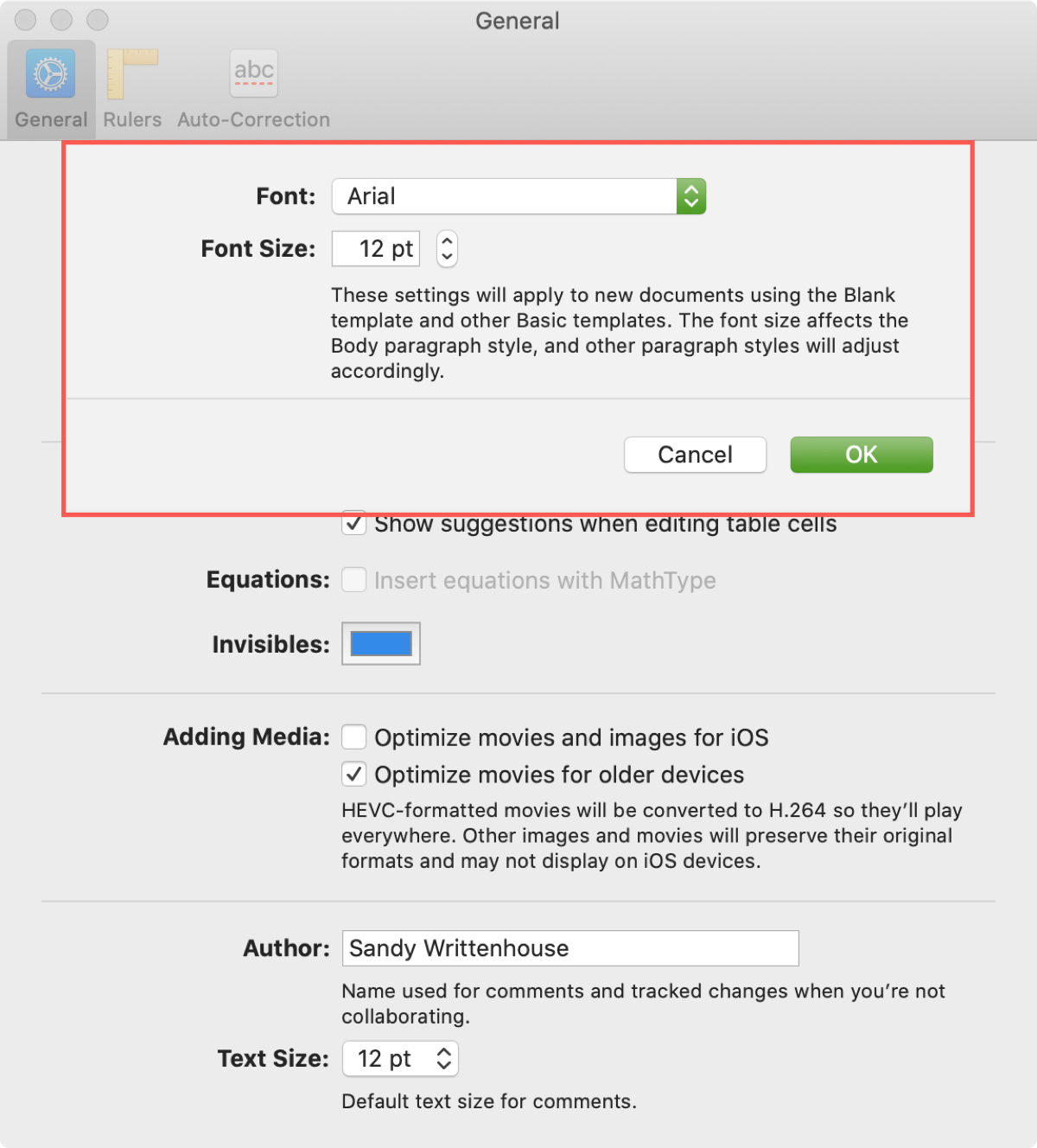 How To Change The Default Font In Pages On Mac