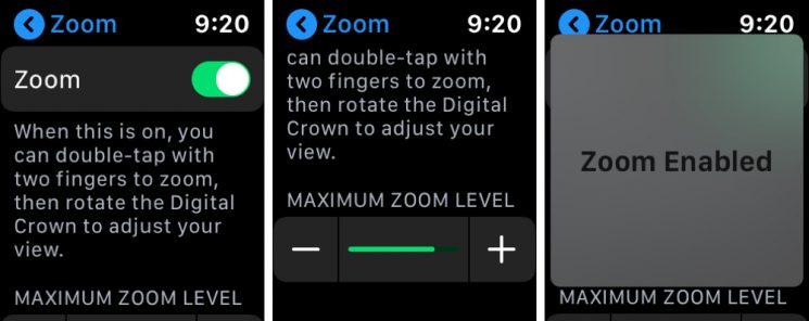 Zoom Settings on Apple Watch 745x296 - تعرق على طريقة استخدام ميزة التكبير (Zoom) على ساعة آبل