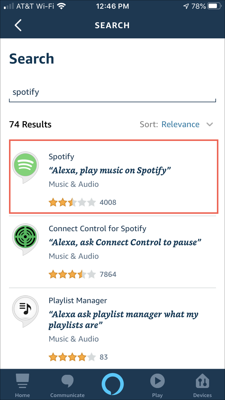 Kỹ năng tìm kiếm Alexa Spotify