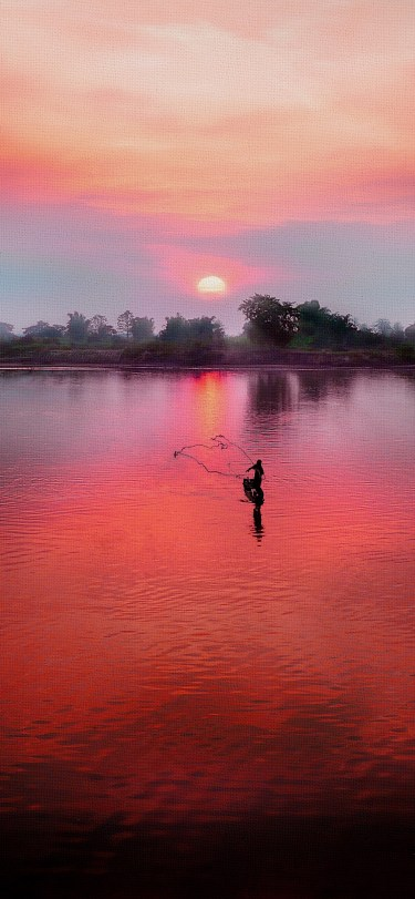 canvas vector iphone wallpaper jianoliu idownloadblog fishing sunset