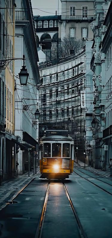 Old town streetcar by João Bernardino