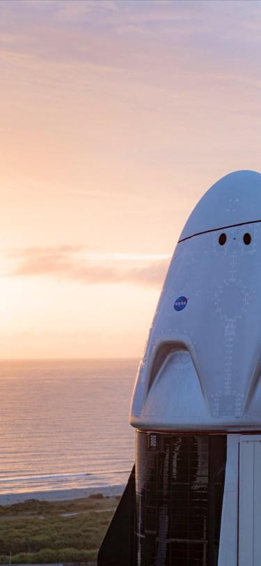 SpaceX iPhone Wallpaper iDownloadBlog Crew Dragon Demo-2 Mission 4