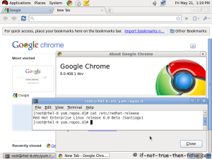 Red Hat 6 (rhel) Google Chrome Unstable