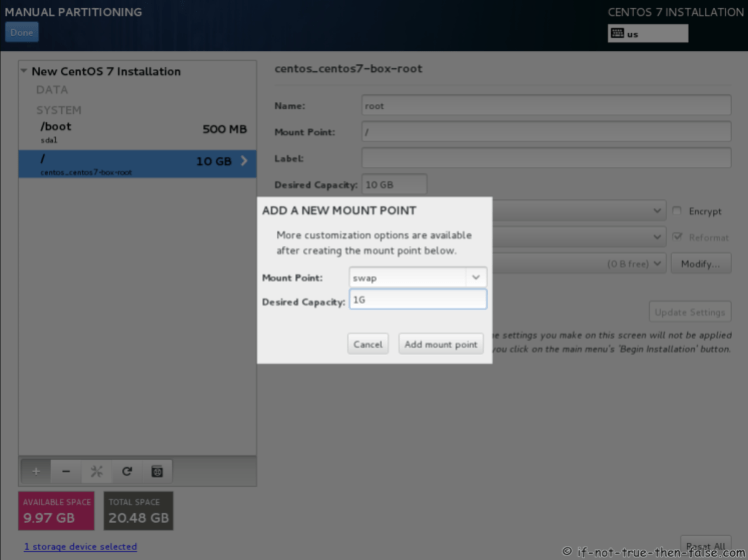 CentOS 7.5 Menambahkan Swap Mount Point