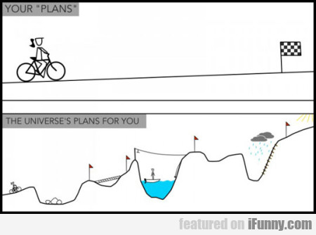 Your 'plans' The Universe's Plans For You
